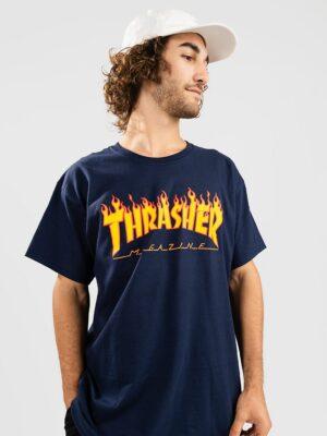 Thrasher Flame T-Shirt navy kaufen