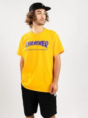 Thrasher Skate Mag T-Shirt gold / purple kaufen