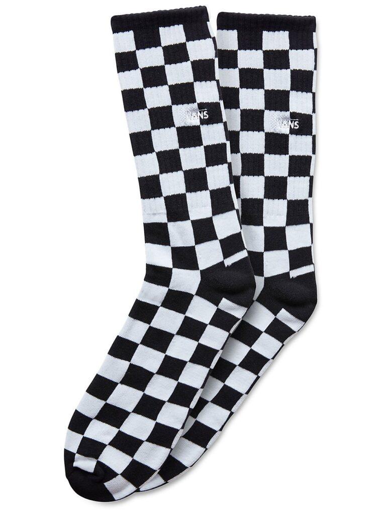Vans Checkerboard II Crew (9.5-13) Socks black / white check kaufen