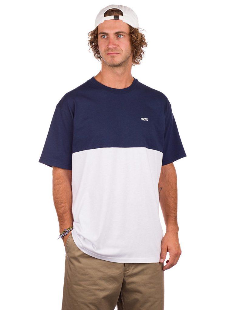 Vans Colorblock T-Shirt white / dress blues kaufen