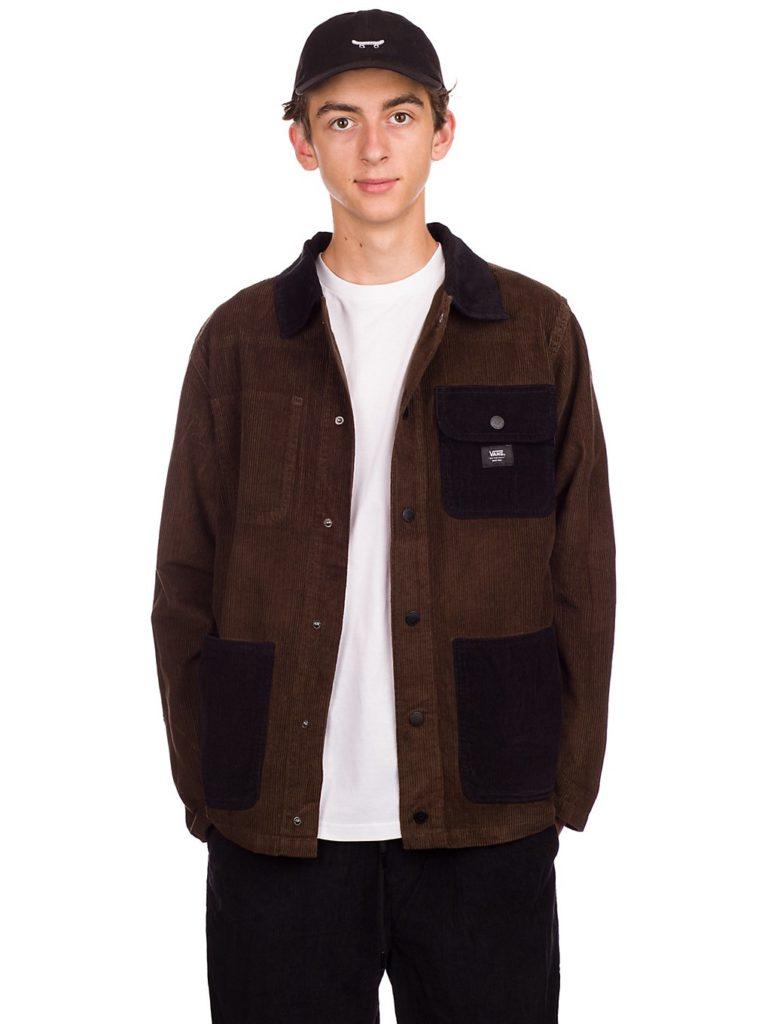 Vans Drill Chore Corduroy Coat demitasse / black kaufen