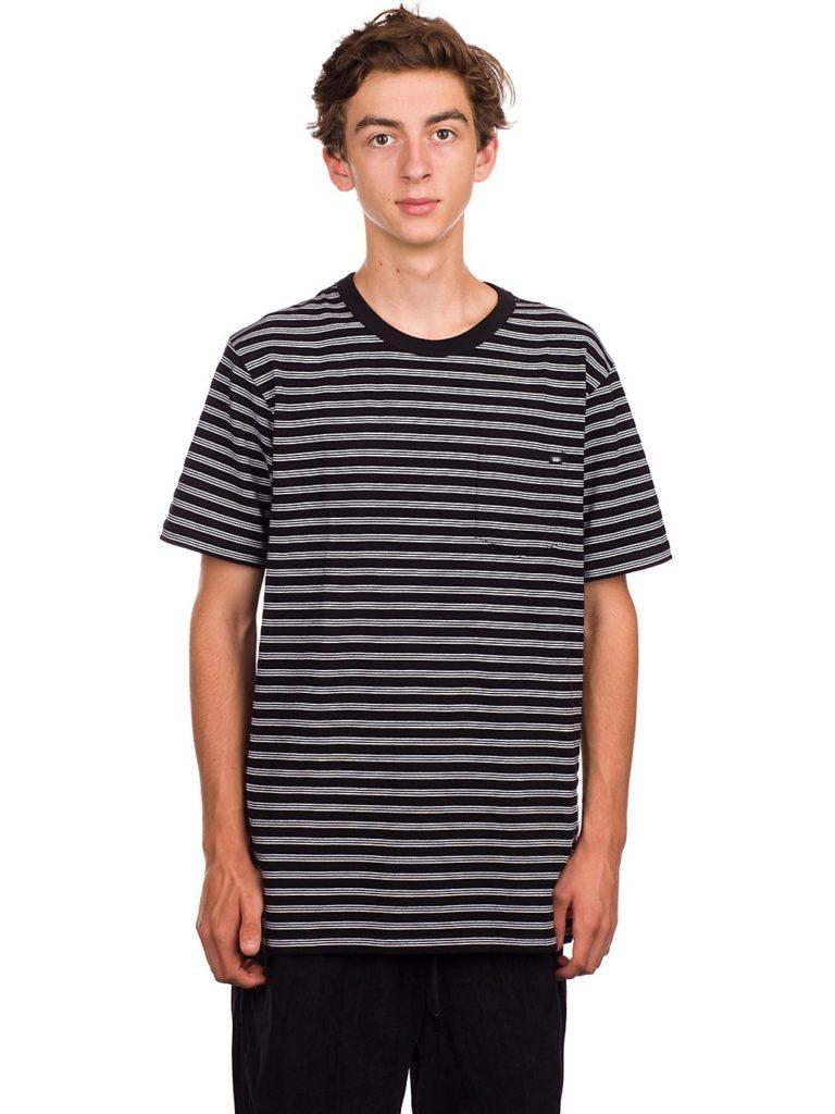 Vans Oakden Stripe T-Shirt black / white kaufen