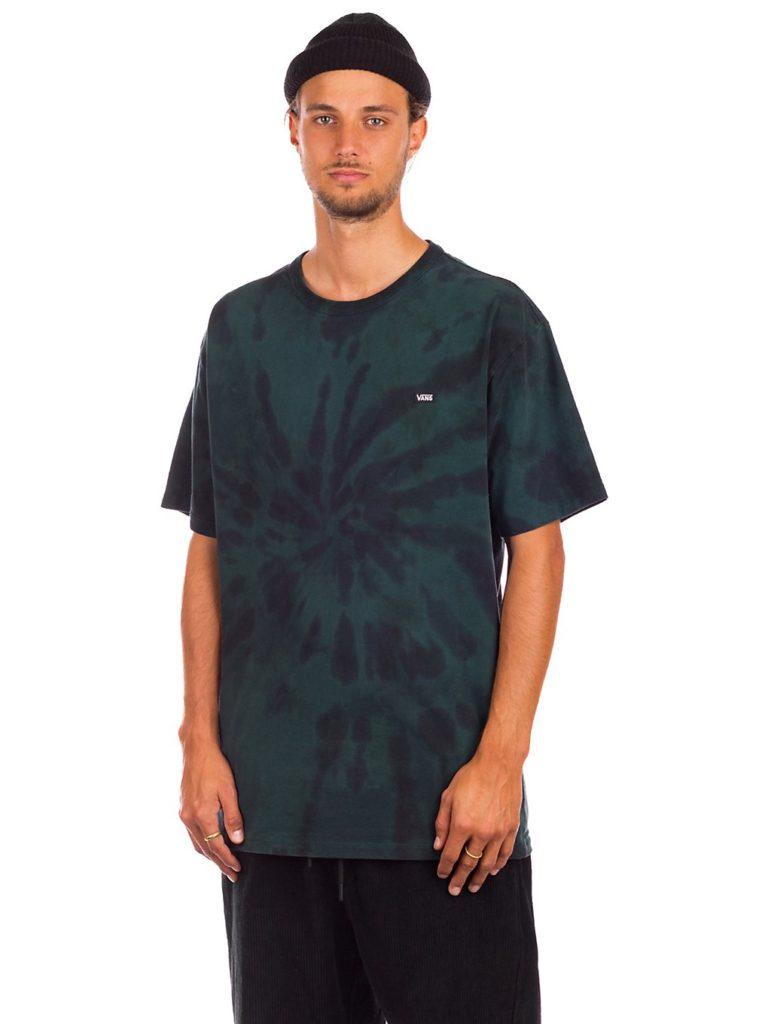 Vans Off The Wall Classic Spiral Tiedye T-Shirt scarab / black kaufen