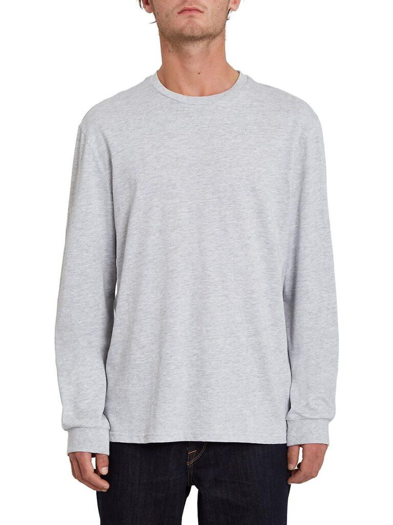 Volcom Iconic Stone Long Sleeve T-Shirt heather grey kaufen