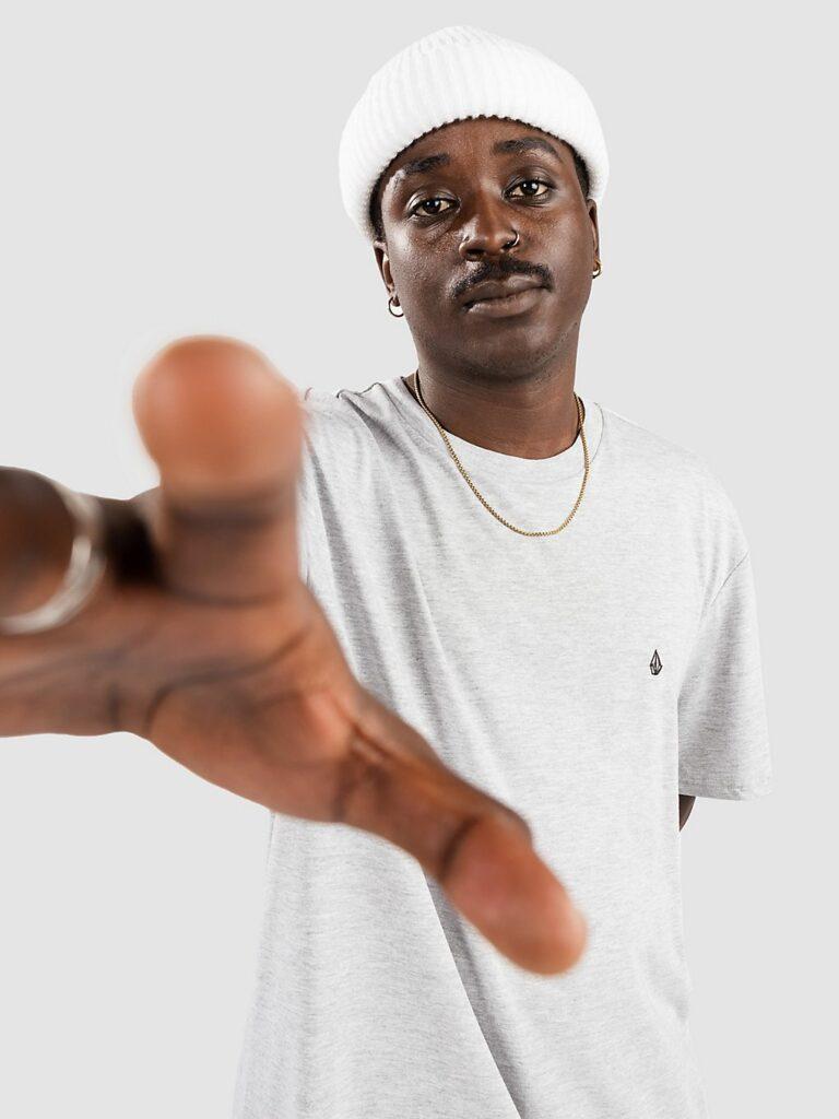 Volcom Stone Blanks Basic T-Shirt heather grey kaufen
