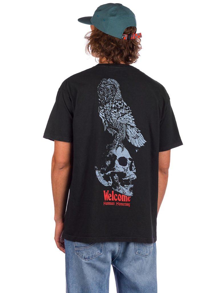 Welcome Bird Brain Garment Dyed T-Shirt black kaufen