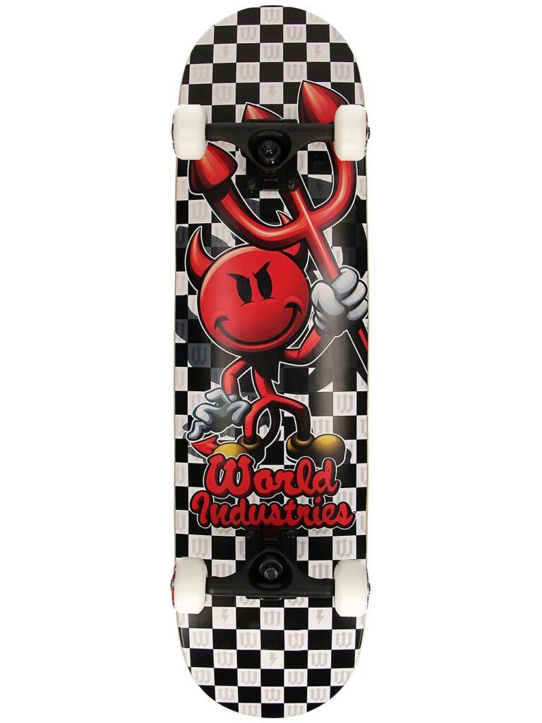"""World Industries Devilman Checkers 7.75"""" Complete black / white kaufen"""